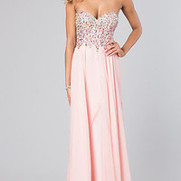 Floor Length Jewel Embellished Prom Dress by Dave and Johnny 9939