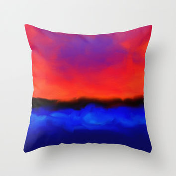 Sunset Explosion Throw Pillow by Sanja Amic