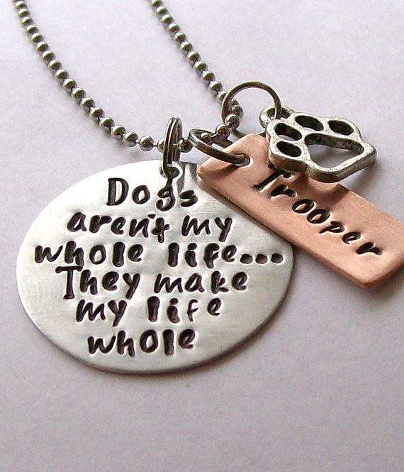 Personalized Dog Quote Necklace for the by EquineExpressionsbyD