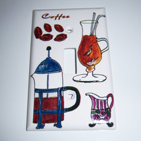 Coffee, coffee, coffee single light switch cover