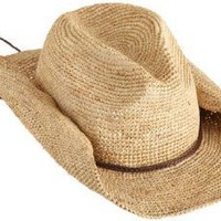 San Diego Women&#x27;s Crocheted Raffia Cowboy Hat