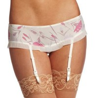 Calvin Klein Women&#x27;s Fan Dance Hipster With Removeable Garter