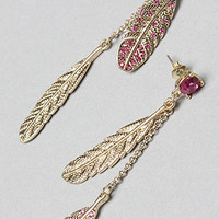 Betsey Johnson The Feather Drop Earring : Karmaloop.com - Global Concrete Culture
