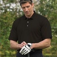 Premium Quality 100% Polyester Tall Sizes Tenacity Golf Sport Shirt - Black