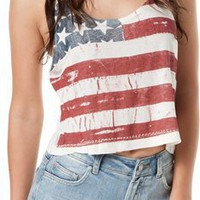 JOHN GALT BY BRANDY MELVILLE AMERICAN FLAG TANK > Womens > Clothing > Tanks | Swell.com