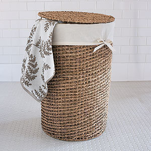 Trista Seagrass Round Hamper | Laundry| Bed & Bath | World Market