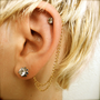 Double Cartilage Chain on Earring Backs  by PrettyKittenBoutique