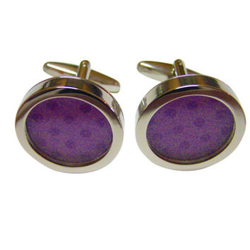 Polka Dot Light Purple Colored Classic Cufflinks