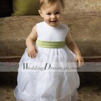 Lovely A-line Ankle-length Round-Neck Pick-ups Flower Girl Dress - Prices & Buy at ShopSimple.com