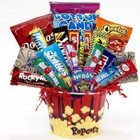 SCHEDULE YOUR DELIVERY DAY! Junk Food Junky Snack Food Gift Basket - Chocolate and Candy Bouquet