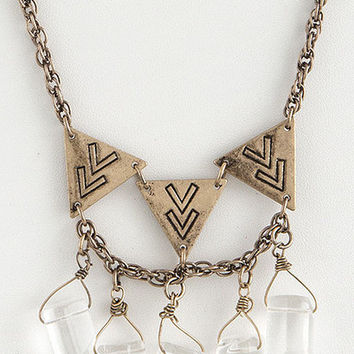 Becca Tribal Gem Necklace