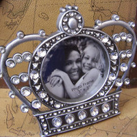 Crown Jeweled Photo Picture Frame NEW