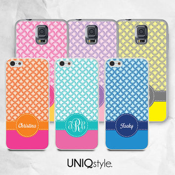 Personalized case with custom name or monogram - for iPhone 4/4s 5/5s 5c, Samsung s3, s4, s4 active, s5, s5 active, Note2, Note3 - C02