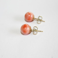 Angel Skin Coral Earrings  1960s  Jewelry
