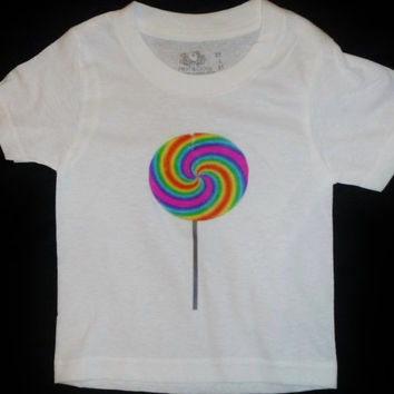 "Onsie, Tee, Free Shipping, Affordable, Comfortable,  ""Lollipop"", White, Baby, Toddler, Graphic Design, Custom, Original, Fun, Clothing"