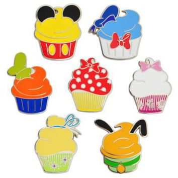Disney Character Cupcake Pin Set -- 7-Pc. | Pin Sets | Disney Store