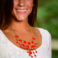 Set Me Free Necklace, Red