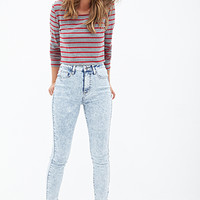 Mineral Wash Skinny Jeans