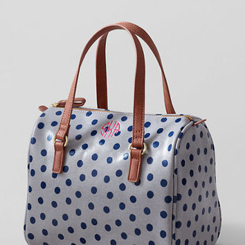 Women's Print Coated Canvas Satchel from Lands' End