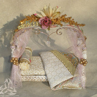 Ultimate Fairy Princess Bed Hand Sculpted OOAK with by FairyWillow