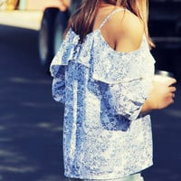 Willow Blue Top