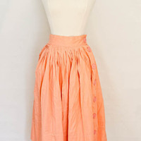 1950s Peach Circle Skirt with Button Down by SalvatoCollection