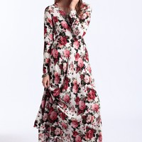 Rose In Paradise Maxi Dress