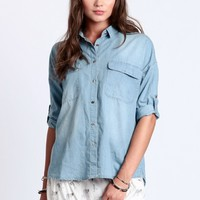 Meet Your Match Chambray Button-Up