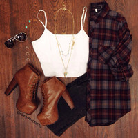 Audrey Plaid Top