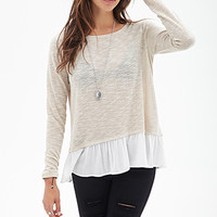 FOREVER 21 Crepe Layered Sweater
