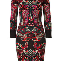 STYLEBOP.com | Black/Red/Green Patterned Knit Dress by MCQ ALEXANDER MCQUEEN | the latest trends from the capitals of the world