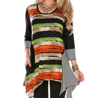 Orange & Black Stripe Top | zulily