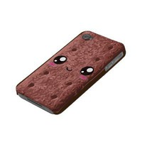 Kawaii Happy Chocolate Sandwich Cream Cookie Iphone 4 Case from Zazzle.com