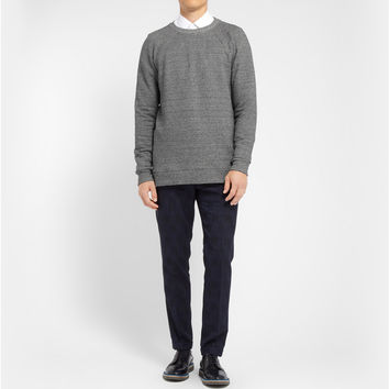 Paul Smith - Flecked Cotton and Silk-Blend Jersey Sweatshirt | MR PORTER
