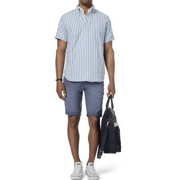 Gant Rugger - Striped Cotton-Oxford Half-Placket Shirt | MR PORTER