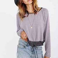 Silence + Noise The Sunday Morning Raglan Top - Urban Outfitters