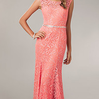 Long Lace Gown for Prom by My Michelle
