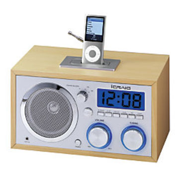 icraig retro alarm clock radio with from office depot. Black Bedroom Furniture Sets. Home Design Ideas