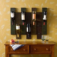 Vintages on Parade Metal Wall Wine Rack - Wall Wine Racks