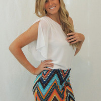missoni chevron knit skirt - &amp;#36;35.00 | Daily Chic Bottoms | International Shipping