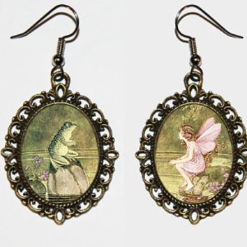 Frog and Fairy Earrings