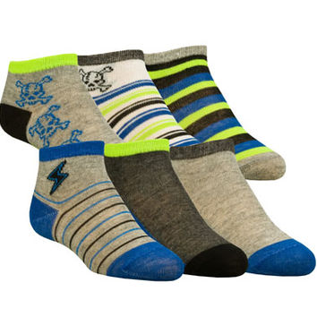 BOYS' 6 PACK ANKLE CREW SOCKS TODDLER