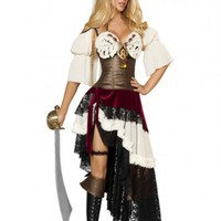 3pc Sexy Pirateer Costume @ Amiclubwear costume Online Store,sexy costume,women's costume,christmas costumes,adult christmas costumes,santa claus costumes,fancy dress costumes,halloween costumes,halloween costume ideas,pirate costume,dance costume,costum