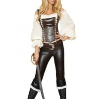 Black 5 PC. Seductive Pirate Wench @ Amiclubwear costume Online Store,sexy costume,women's costume,christmas costumes,adult christmas costumes,santa claus costumes,fancy dress costumes,halloween costumes,halloween costume ideas,pirate costume,dance costu