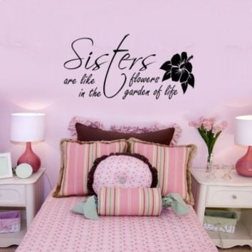 Sisters are like flowers - G Direct Wall Stickers