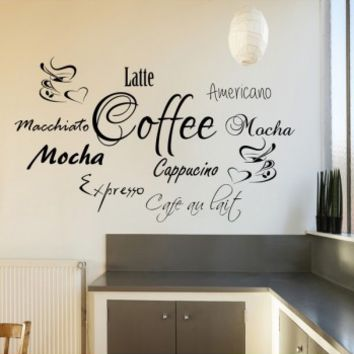 Coffee word cloud - G Direct Wall Stickers