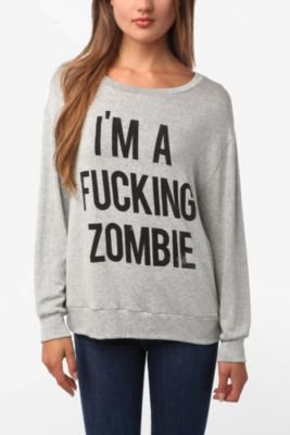 UrbanOutfitters.com &gt; Daydreamer LA I&#x27;m A F*cking Zombie Sweatshirt