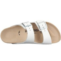 Birkenstock Sandals ''Arizona'' from Leather in White with a regular insole