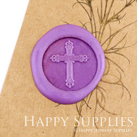 1pcs Cross Gold Plated Wax Seal Stamp (WS244)