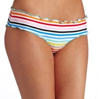 Modern Amusement Women&#x27;s Rainbow Stripe Ripple Boy Short